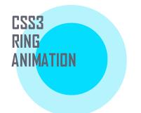 CSS3で半透明のリングが波紋のように広がるボタンのエフェクトを作る方法